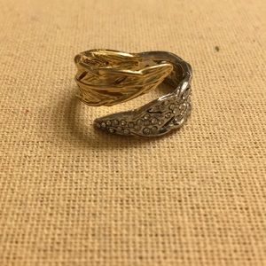 Chloe + Isabel Two Tone Feather Ring